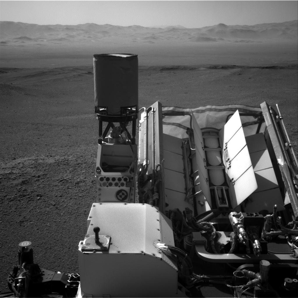 Nasa's Mars rover Curiosity acquired this image using its Right Navigation Camera on Sol 2593, at drive 2540, site number 77