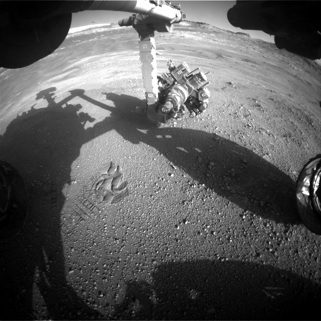 Nasa's Mars rover Curiosity acquired this image using its Front Hazard Avoidance Camera (Front Hazcam) on Sol 2594, at drive 2540, site number 77