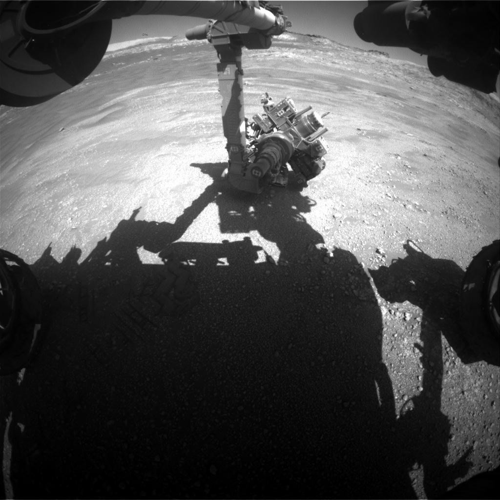 Nasa's Mars rover Curiosity acquired this image using its Front Hazard Avoidance Camera (Front Hazcam) on Sol 2595, at drive 2540, site number 77
