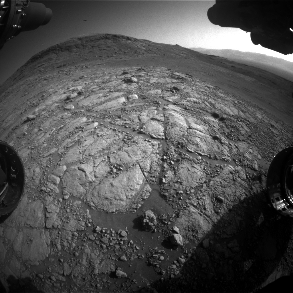 Nasa's Mars rover Curiosity acquired this image using its Front Hazard Avoidance Camera (Front Hazcam) on Sol 2595, at drive 2786, site number 77