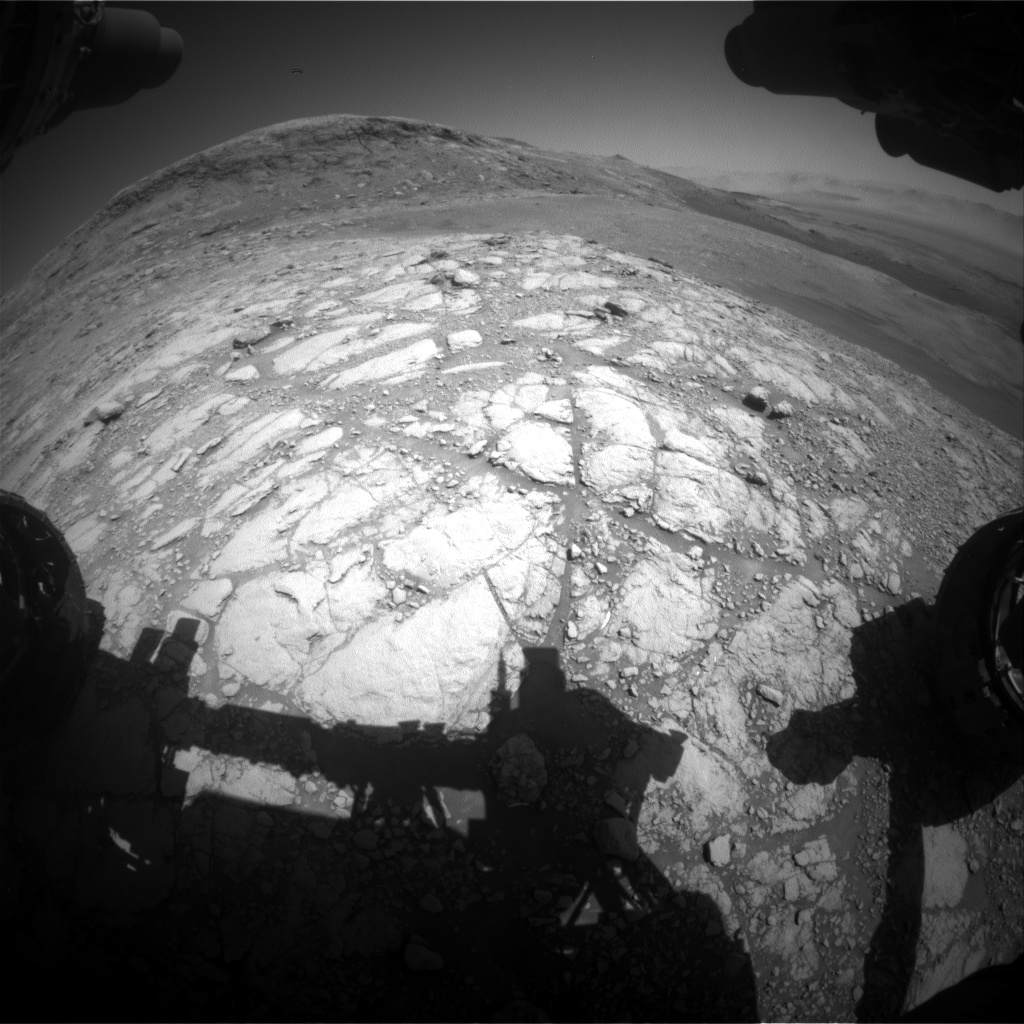 Nasa's Mars rover Curiosity acquired this image using its Front Hazard Avoidance Camera (Front Hazcam) on Sol 2596, at drive 2786, site number 77