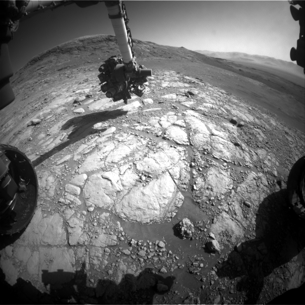 Nasa's Mars rover Curiosity acquired this image using its Front Hazard Avoidance Camera (Front Hazcam) on Sol 2597, at drive 2786, site number 77