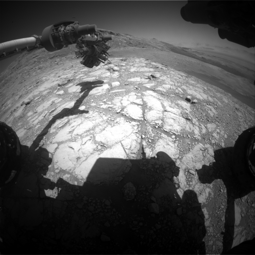Nasa's Mars rover Curiosity acquired this image using its Front Hazard Avoidance Camera (Front Hazcam) on Sol 2598, at drive 2786, site number 77