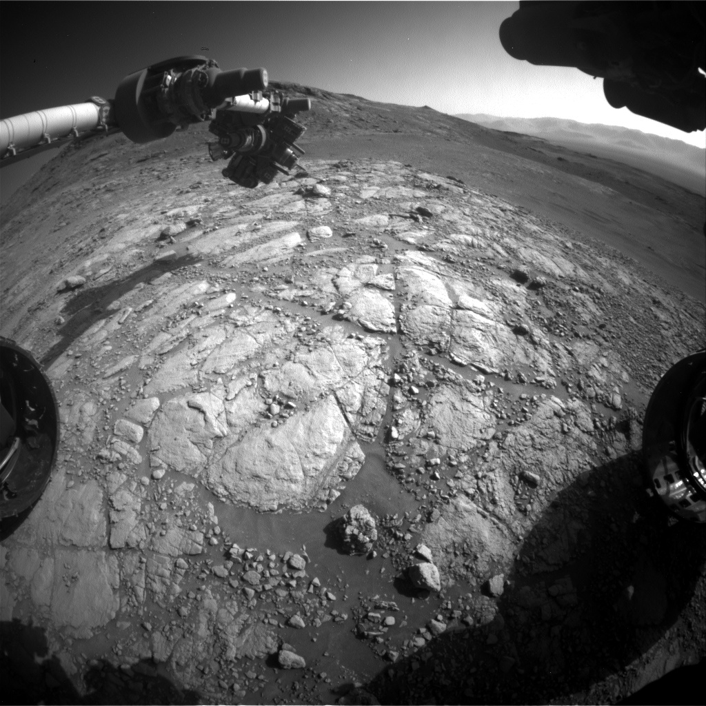 Nasa's Mars rover Curiosity acquired this image using its Front Hazard Avoidance Camera (Front Hazcam) on Sol 2599, at drive 2786, site number 77