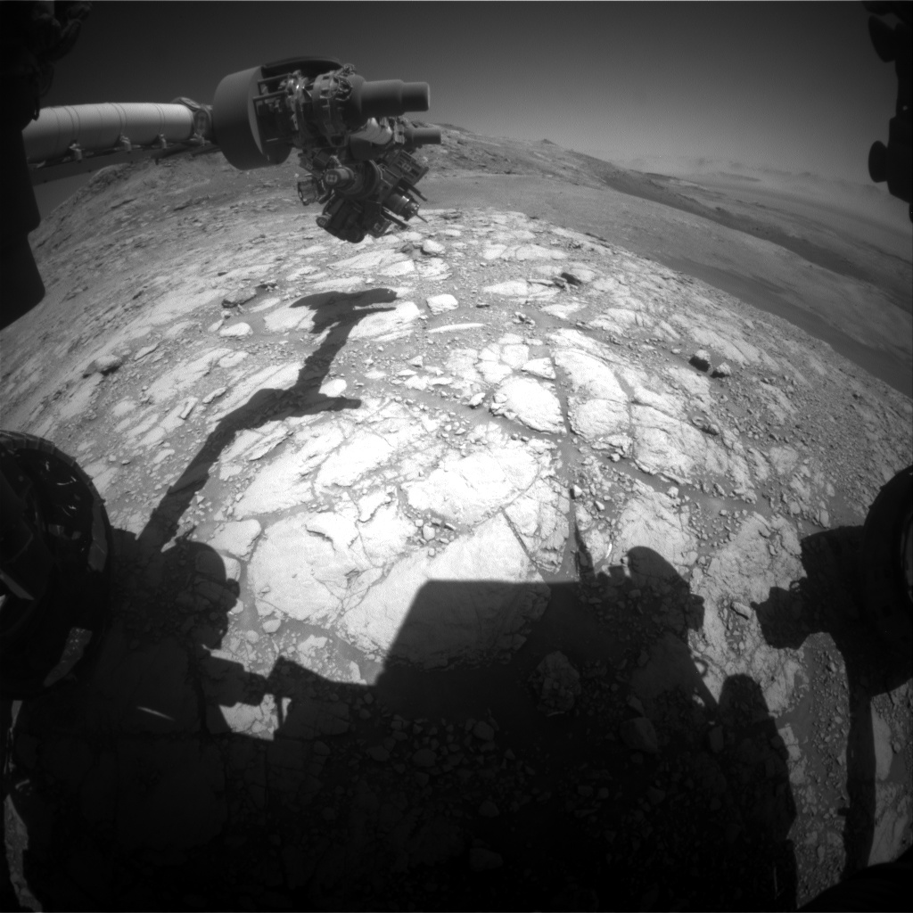 Nasa's Mars rover Curiosity acquired this image using its Front Hazard Avoidance Camera (Front Hazcam) on Sol 2600, at drive 2786, site number 77