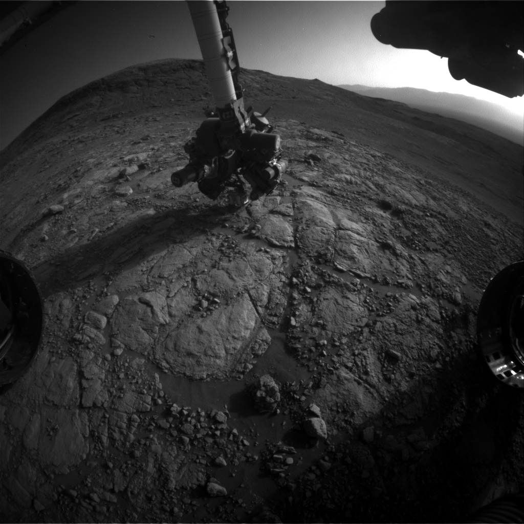 Nasa's Mars rover Curiosity acquired this image using its Front Hazard Avoidance Camera (Front Hazcam) on Sol 2601, at drive 2786, site number 77