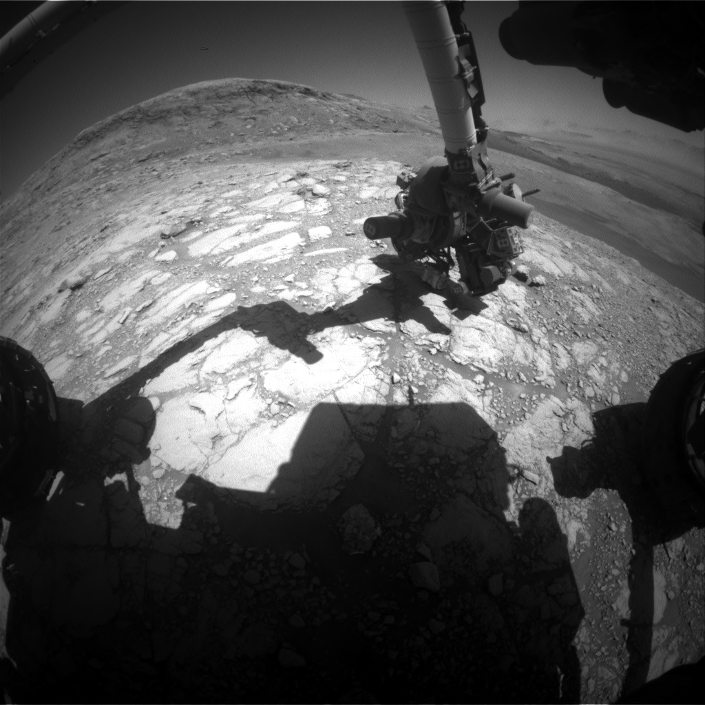Nasa's Mars rover Curiosity acquired this image using its Front Hazard Avoidance Camera (Front Hazcam) on Sol 2602, at drive 2786, site number 77