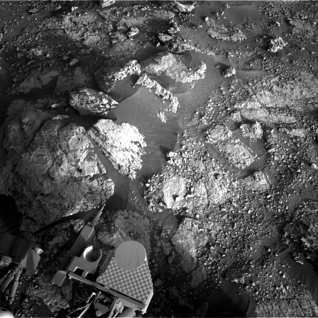 Nasa's Mars rover Curiosity acquired this image using its Right Navigation Camera on Sol 2602, at drive 2954, site number 77