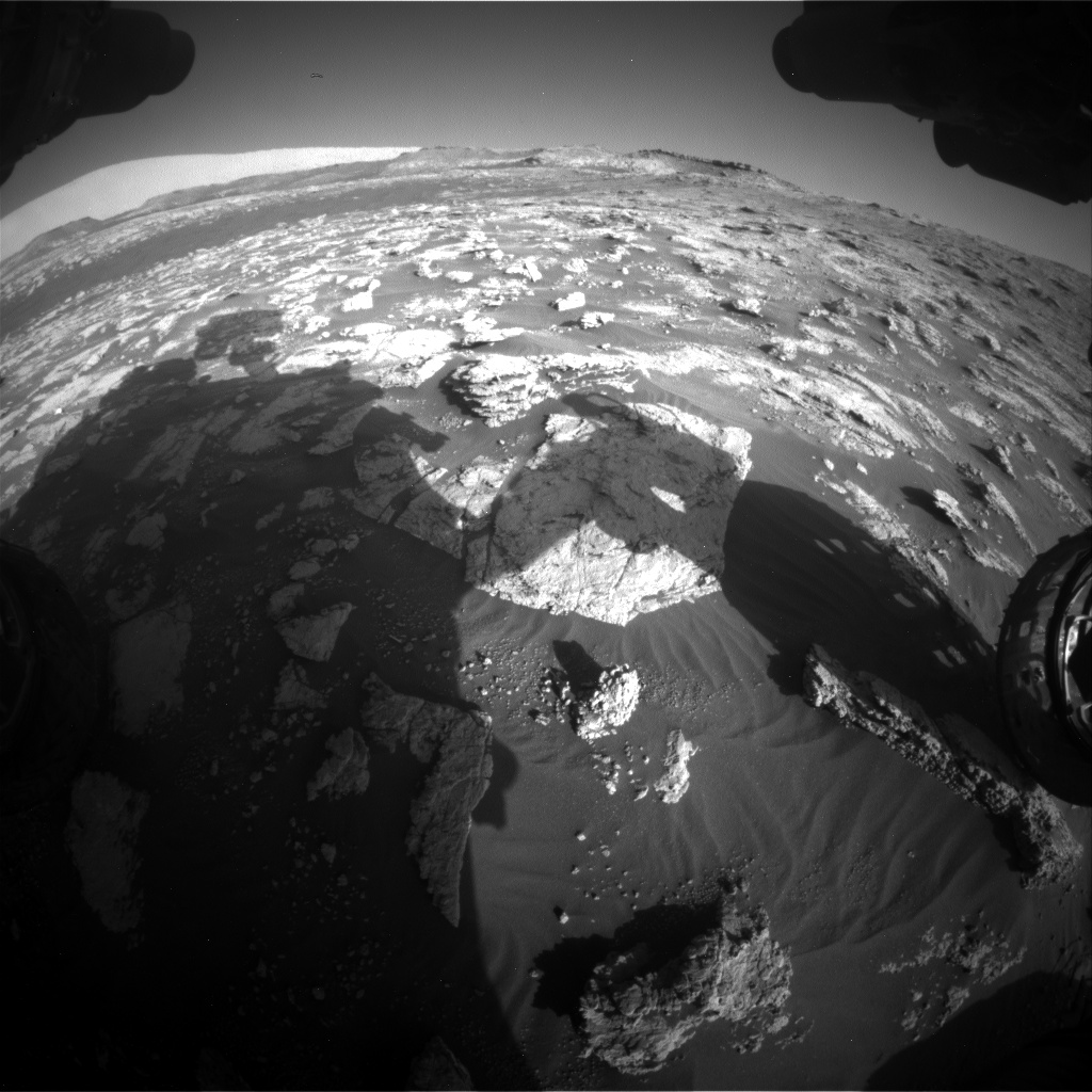 Nasa's Mars rover Curiosity acquired this image using its Front Hazard Avoidance Camera (Front Hazcam) on Sol 2604, at drive 0, site number 78