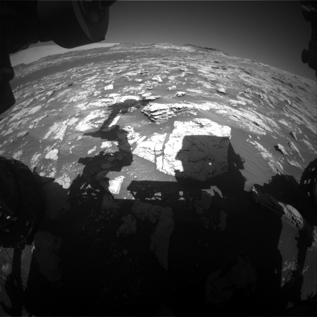 Nasa's Mars rover Curiosity acquired this image using its Front Hazard Avoidance Camera (Front Hazcam) on Sol 2605, at drive 0, site number 78