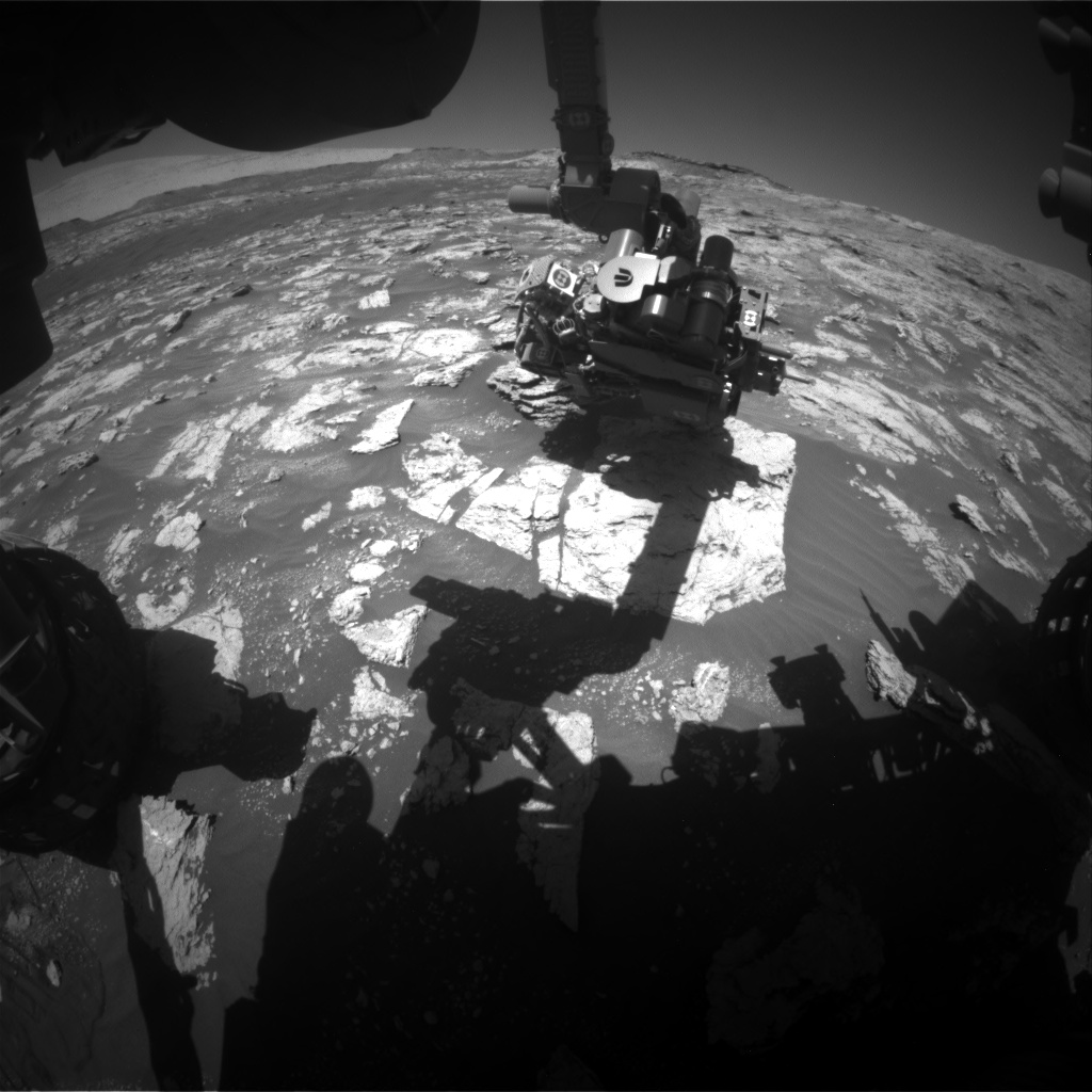 Nasa's Mars rover Curiosity acquired this image using its Front Hazard Avoidance Camera (Front Hazcam) on Sol 2606, at drive 0, site number 78
