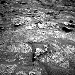 Nasa's Mars rover Curiosity acquired this image using its Left Navigation Camera on Sol 2606, at drive 126, site number 78
