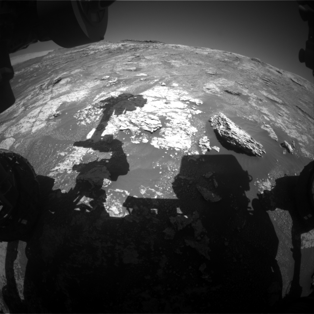 Nasa's Mars rover Curiosity acquired this image using its Front Hazard Avoidance Camera (Front Hazcam) on Sol 2607, at drive 138, site number 78