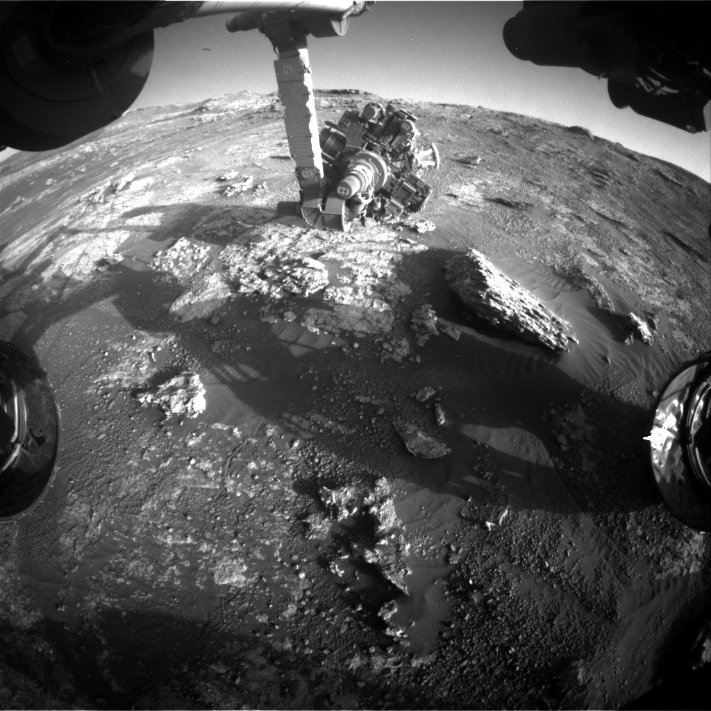 Nasa's Mars rover Curiosity acquired this image using its Front Hazard Avoidance Camera (Front Hazcam) on Sol 2608, at drive 138, site number 78