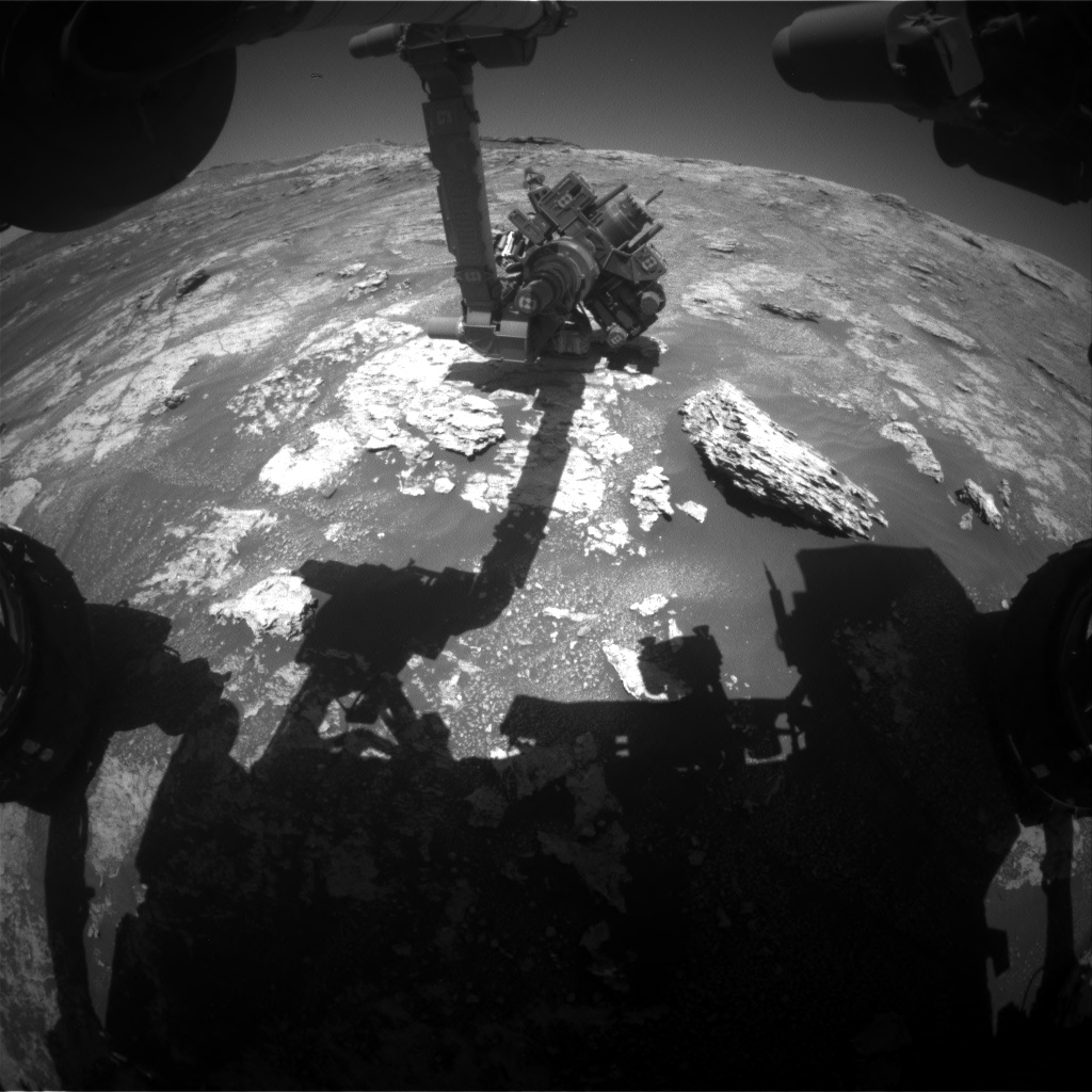 Nasa's Mars rover Curiosity acquired this image using its Front Hazard Avoidance Camera (Front Hazcam) on Sol 2609, at drive 138, site number 78