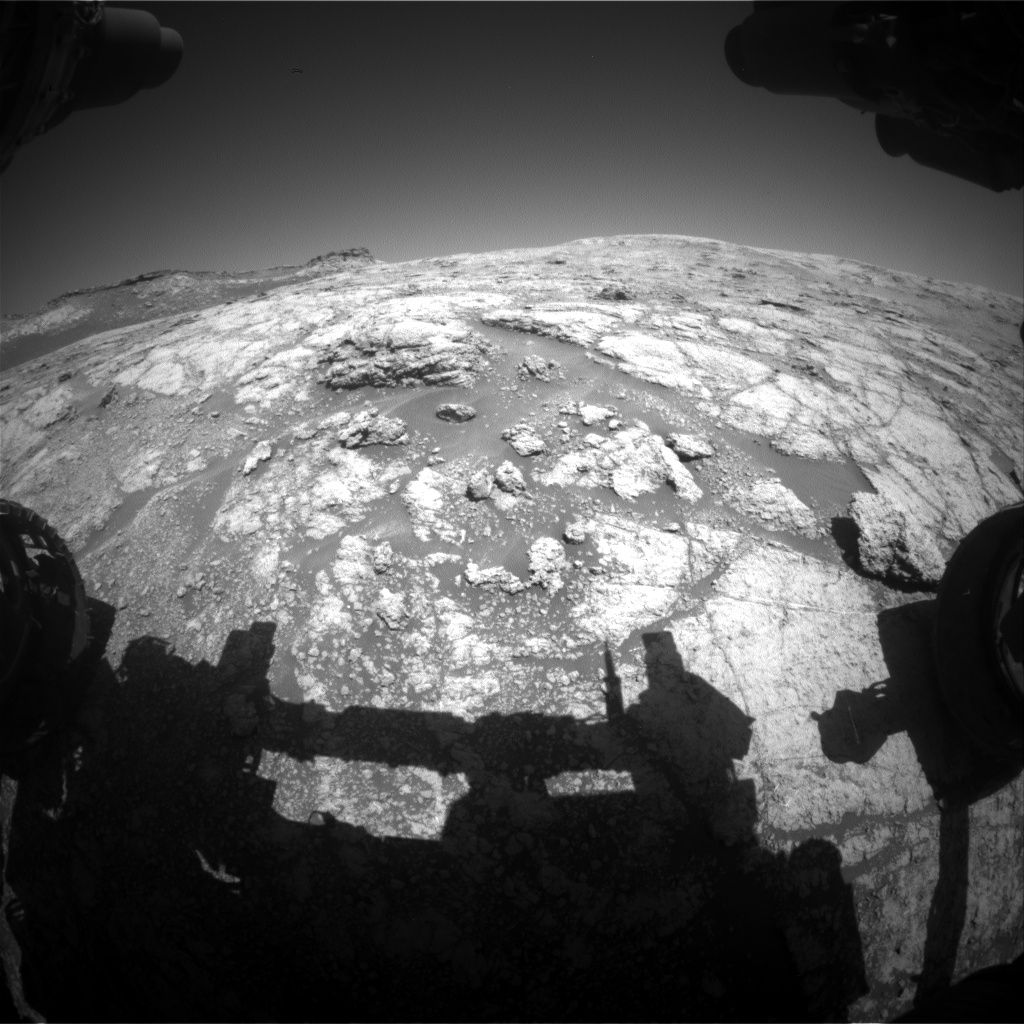 Nasa's Mars rover Curiosity acquired this image using its Front Hazard Avoidance Camera (Front Hazcam) on Sol 2610, at drive 216, site number 78