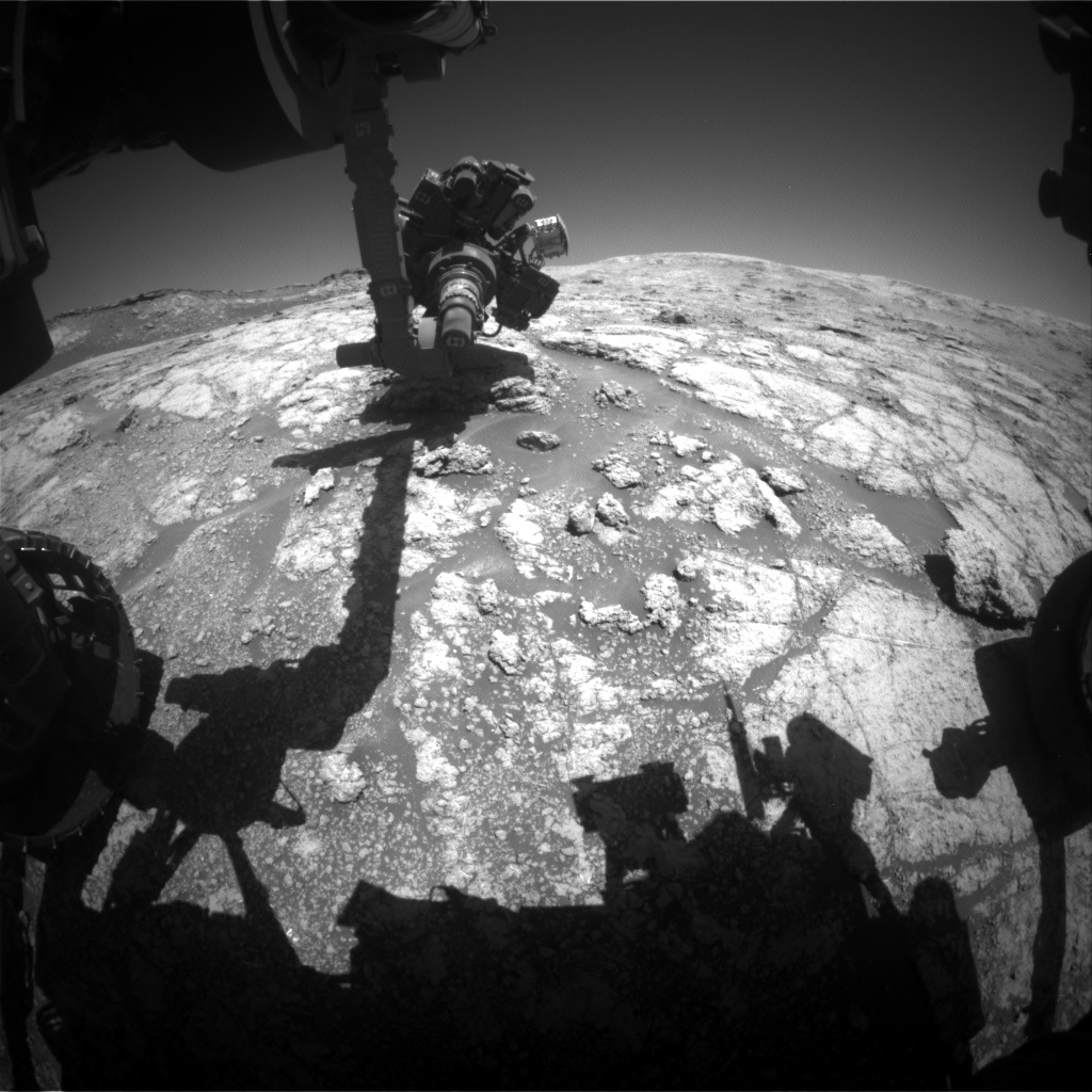 Nasa's Mars rover Curiosity acquired this image using its Front Hazard Avoidance Camera (Front Hazcam) on Sol 2611, at drive 216, site number 78