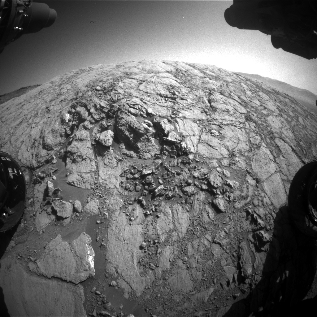 Nasa's Mars rover Curiosity acquired this image using its Front Hazard Avoidance Camera (Front Hazcam) on Sol 2612, at drive 486, site number 78