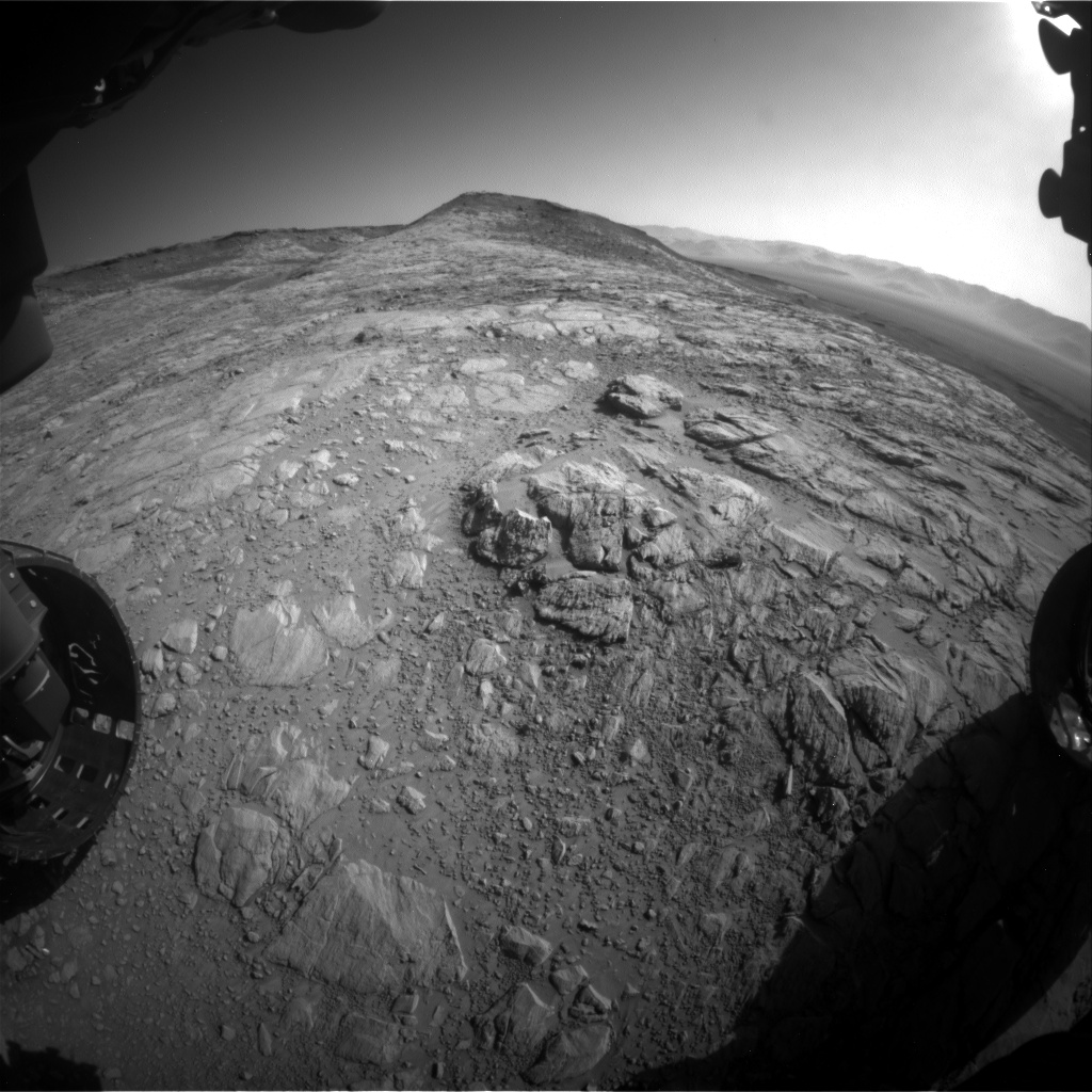 Nasa's Mars rover Curiosity acquired this image using its Front Hazard Avoidance Camera (Front Hazcam) on Sol 2613, at drive 612, site number 78