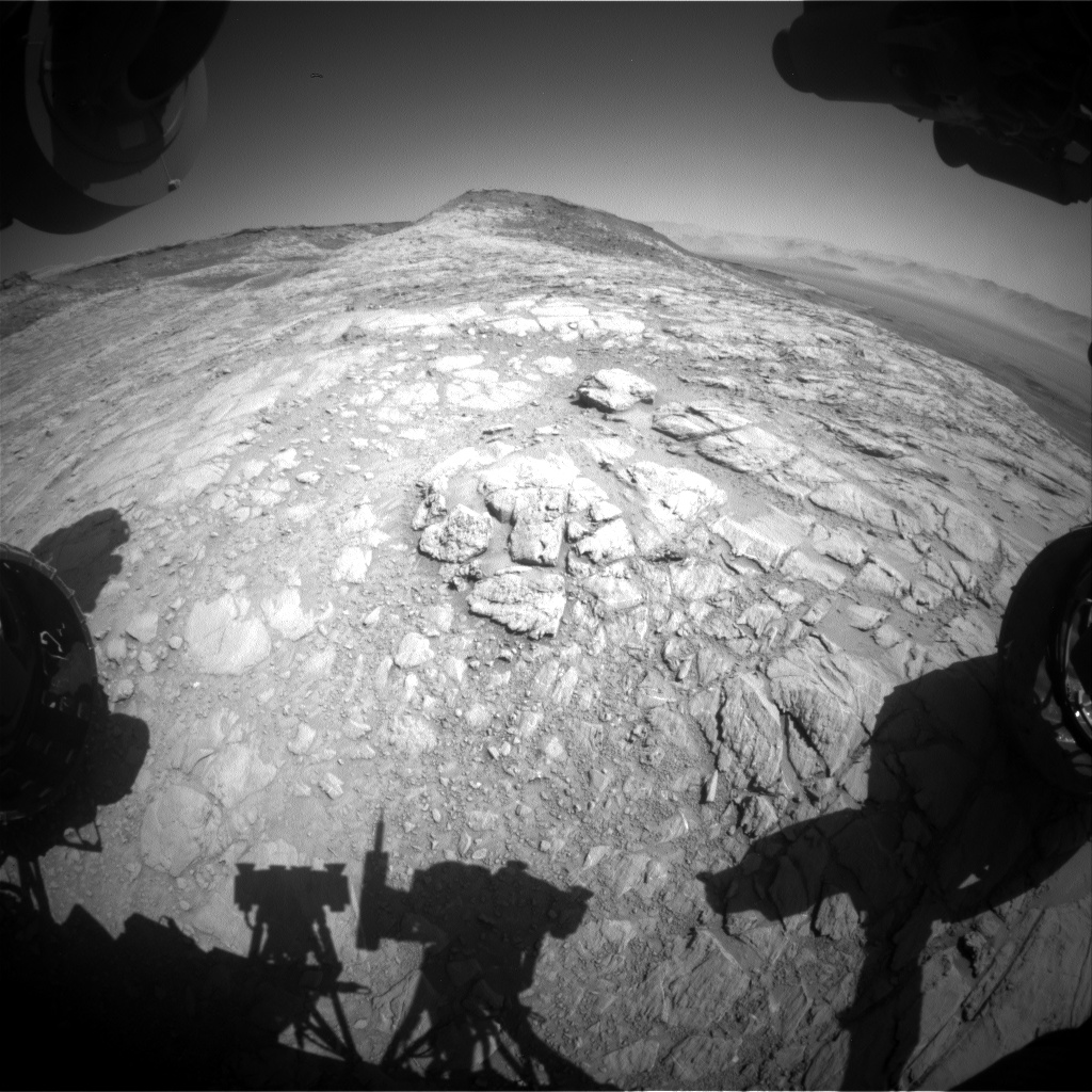 Nasa's Mars rover Curiosity acquired this image using its Front Hazard Avoidance Camera (Front Hazcam) on Sol 2614, at drive 612, site number 78