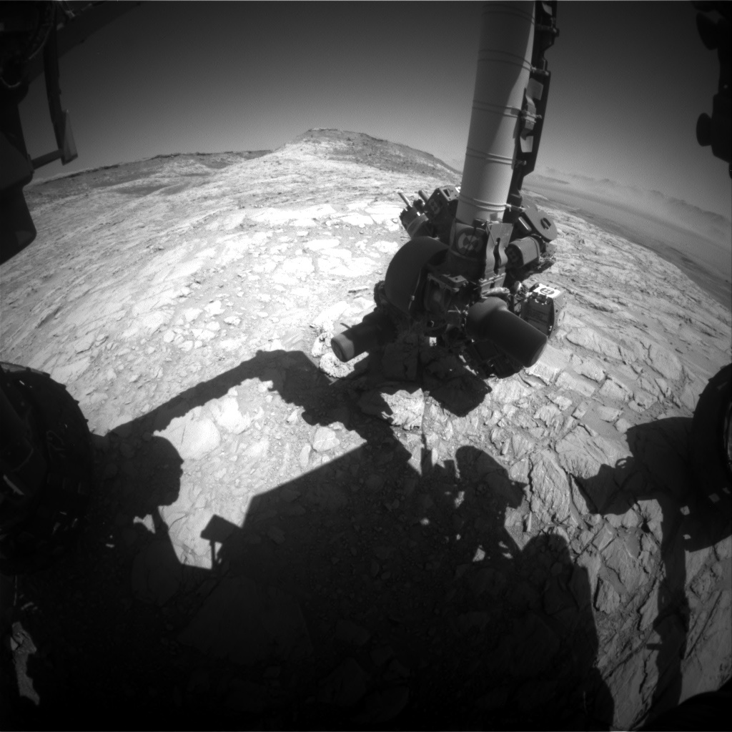 Nasa's Mars rover Curiosity acquired this image using its Front Hazard Avoidance Camera (Front Hazcam) on Sol 2616, at drive 612, site number 78