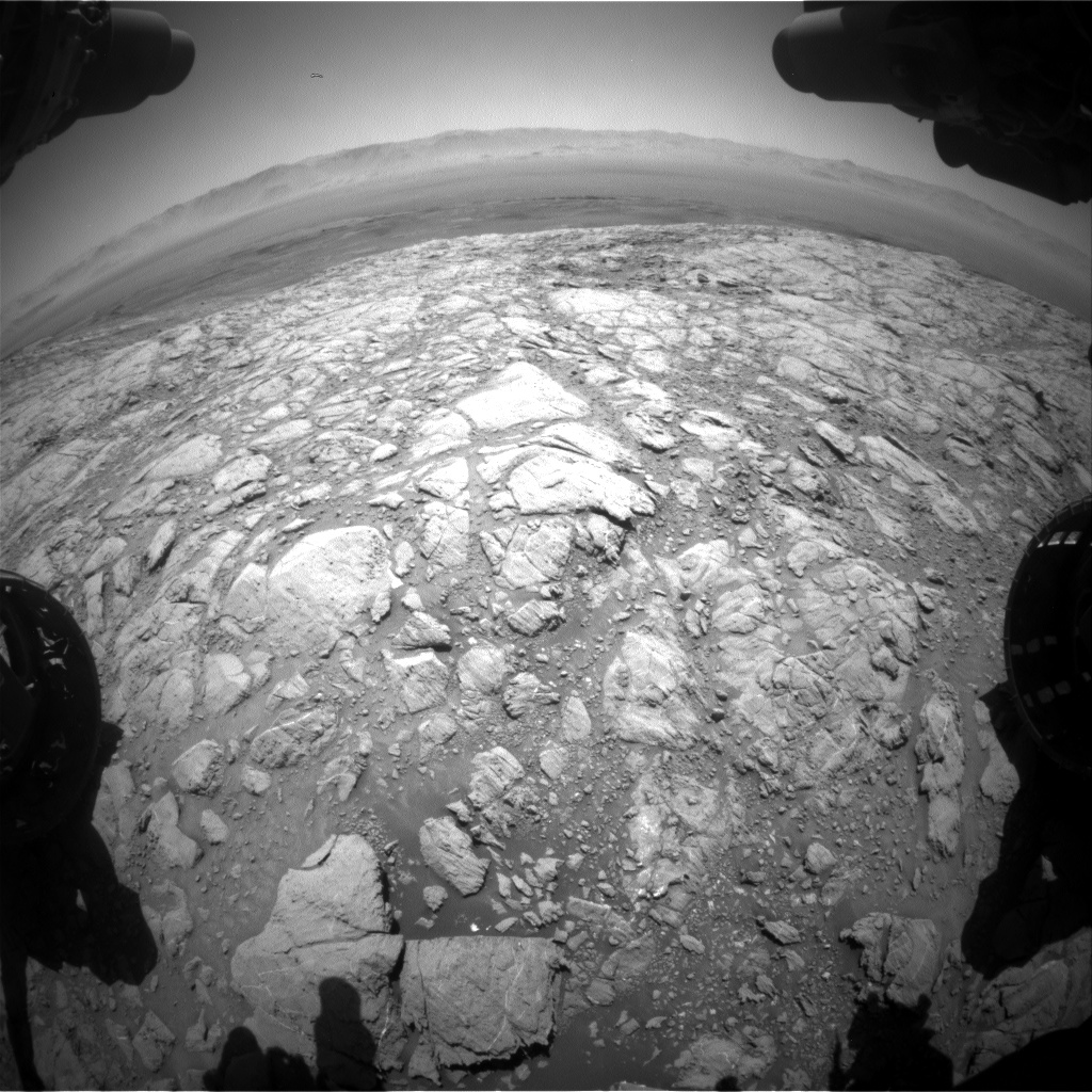 Nasa's Mars rover Curiosity acquired this image using its Front Hazard Avoidance Camera (Front Hazcam) on Sol 2617, at drive 834, site number 78