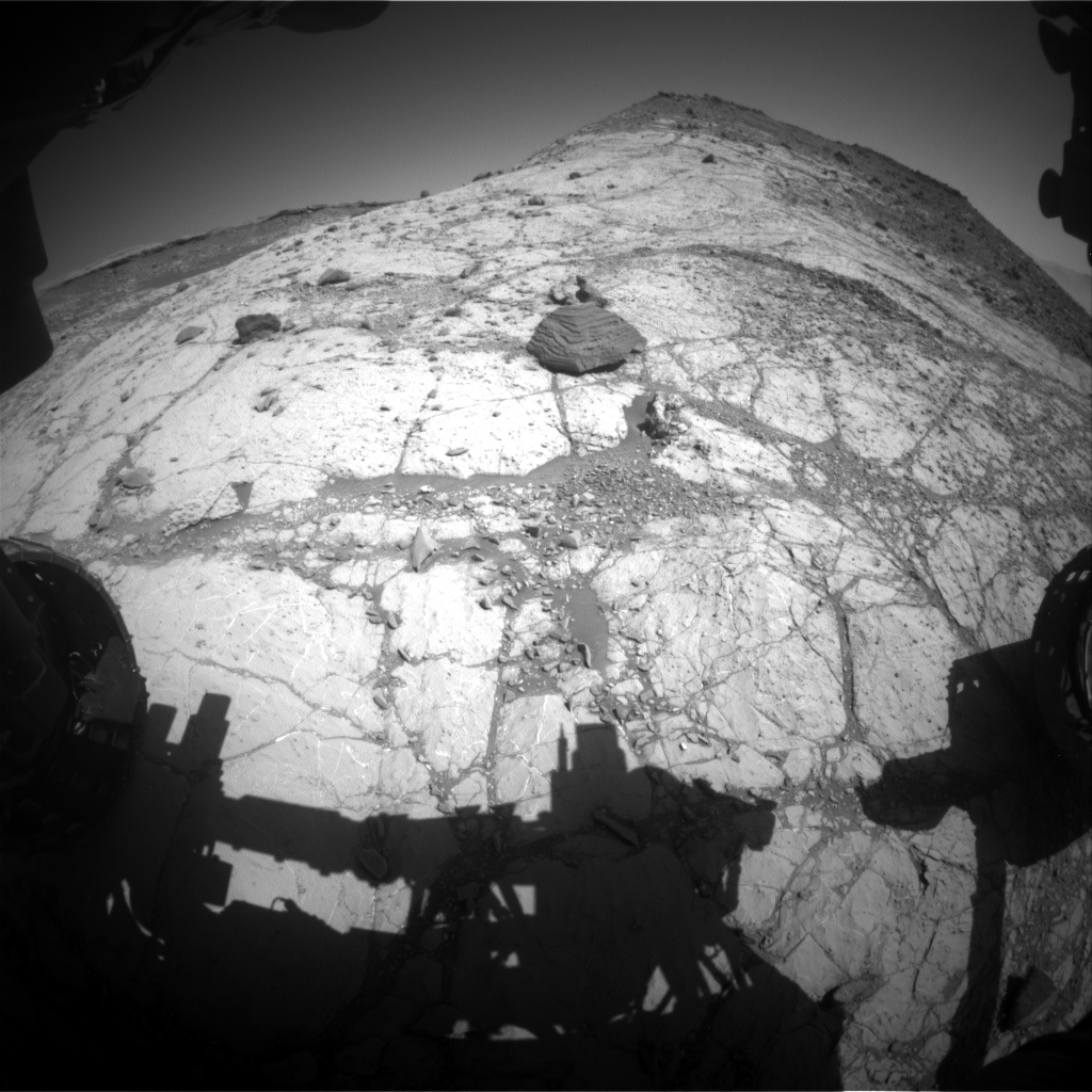 Nasa's Mars rover Curiosity acquired this image using its Front Hazard Avoidance Camera (Front Hazcam) on Sol 2618, at drive 1002, site number 78