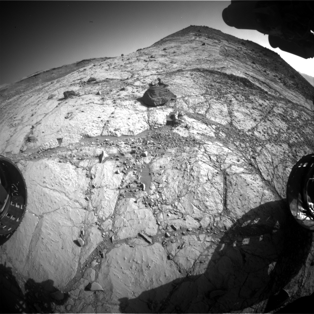 Nasa's Mars rover Curiosity acquired this image using its Front Hazard Avoidance Camera (Front Hazcam) on Sol 2619, at drive 1002, site number 78