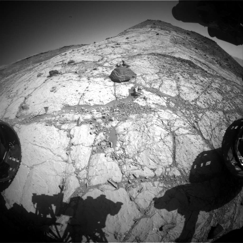 Nasa's Mars rover Curiosity acquired this image using its Front Hazard Avoidance Camera (Front Hazcam) on Sol 2620, at drive 1002, site number 78