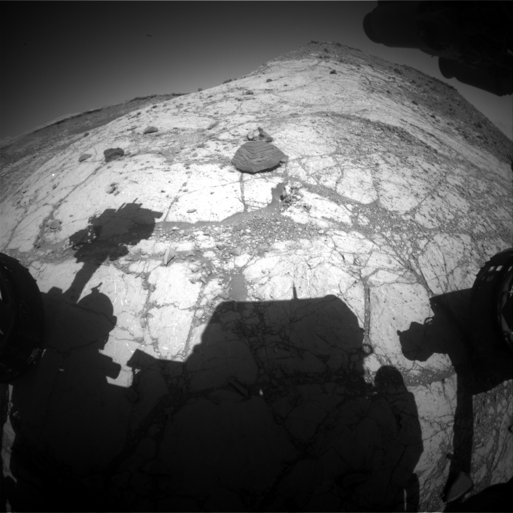 Nasa's Mars rover Curiosity acquired this image using its Front Hazard Avoidance Camera (Front Hazcam) on Sol 2621, at drive 1002, site number 78