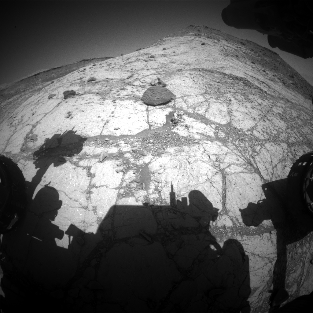 Nasa's Mars rover Curiosity acquired this image using its Front Hazard Avoidance Camera (Front Hazcam) on Sol 2626, at drive 1002, site number 78