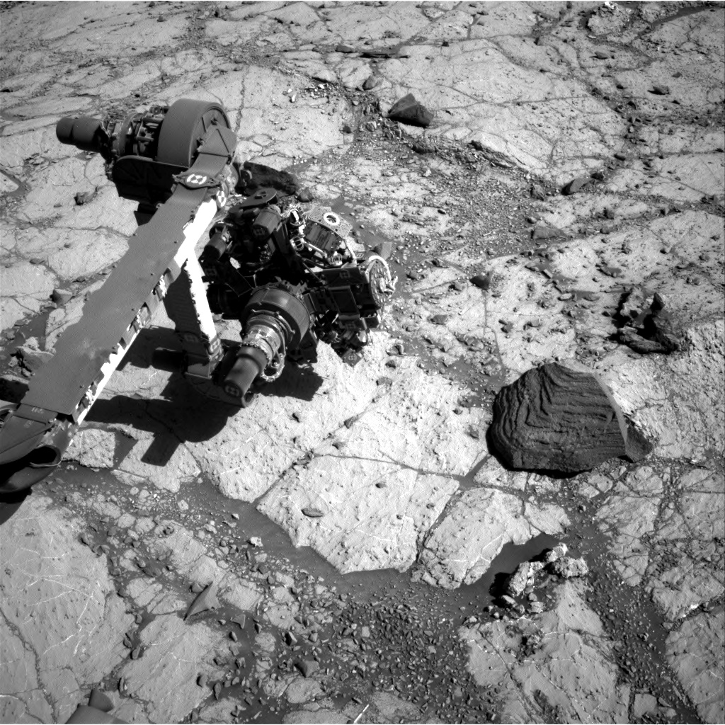 Nasa's Mars rover Curiosity acquired this image using its Right Navigation Camera on Sol 2631, at drive 1002, site number 78