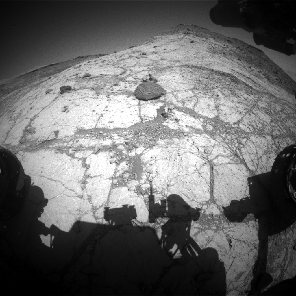 Nasa's Mars rover Curiosity acquired this image using its Front Hazard Avoidance Camera (Front Hazcam) on Sol 2632, at drive 1002, site number 78