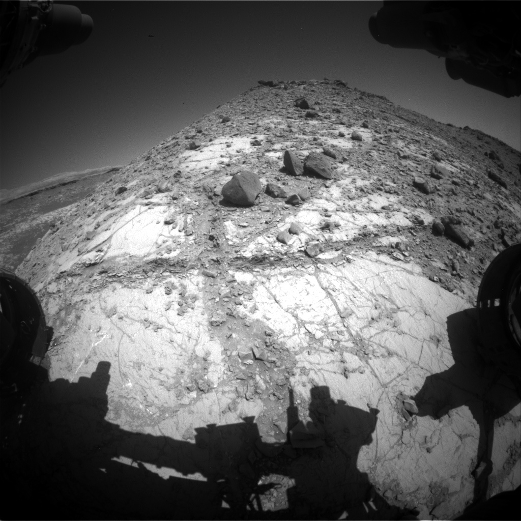 Nasa's Mars rover Curiosity acquired this image using its Front Hazard Avoidance Camera (Front Hazcam) on Sol 2633, at drive 1138, site number 78