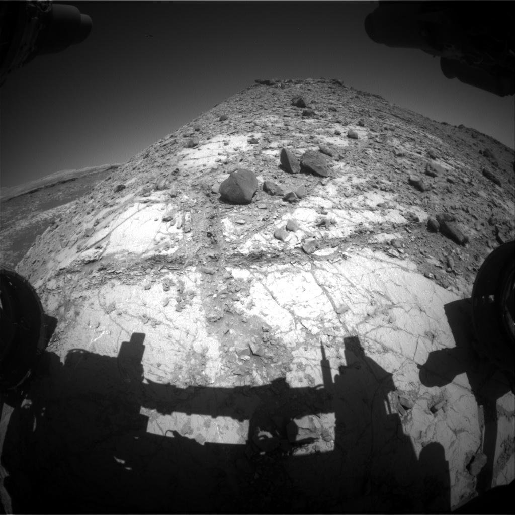Nasa's Mars rover Curiosity acquired this image using its Front Hazard Avoidance Camera (Front Hazcam) on Sol 2634, at drive 1138, site number 78