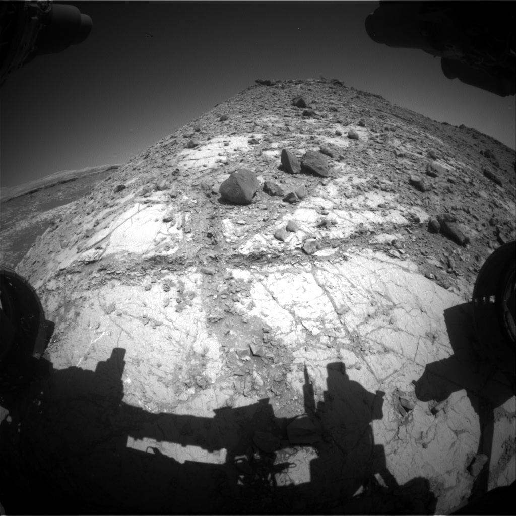 Nasa's Mars rover Curiosity acquired this image using its Front Hazard Avoidance Camera (Front Hazcam) on Sol 2635, at drive 1138, site number 78