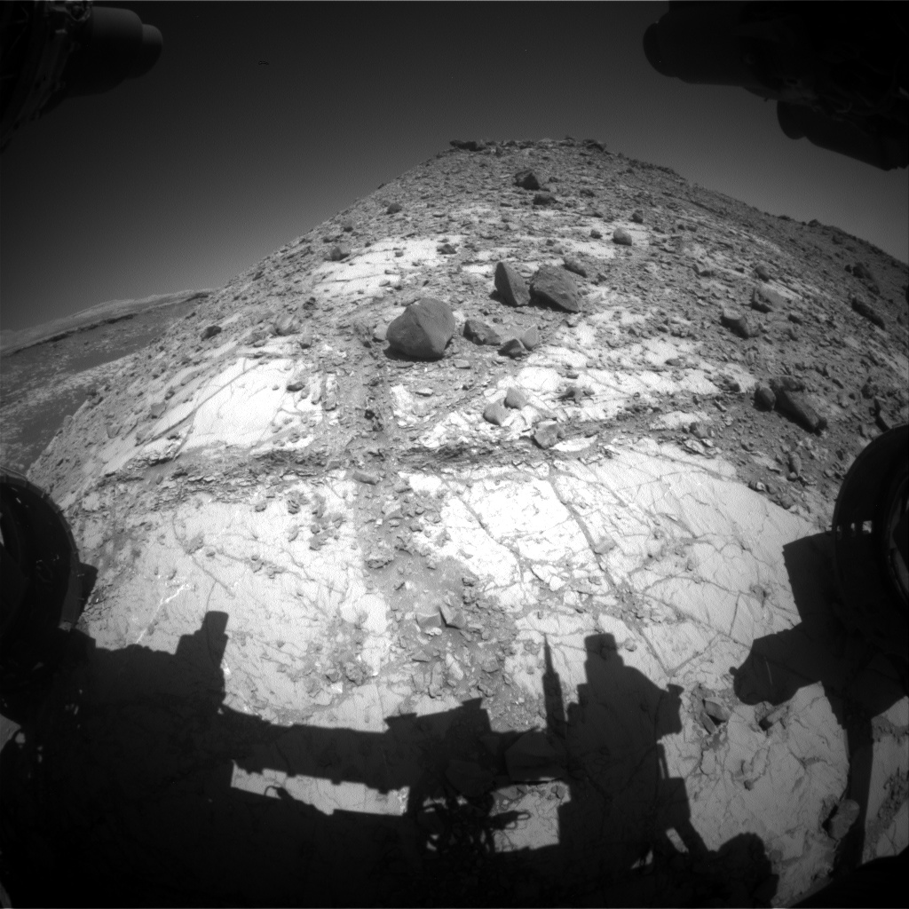 Nasa's Mars rover Curiosity acquired this image using its Front Hazard Avoidance Camera (Front Hazcam) on Sol 2638, at drive 1138, site number 78