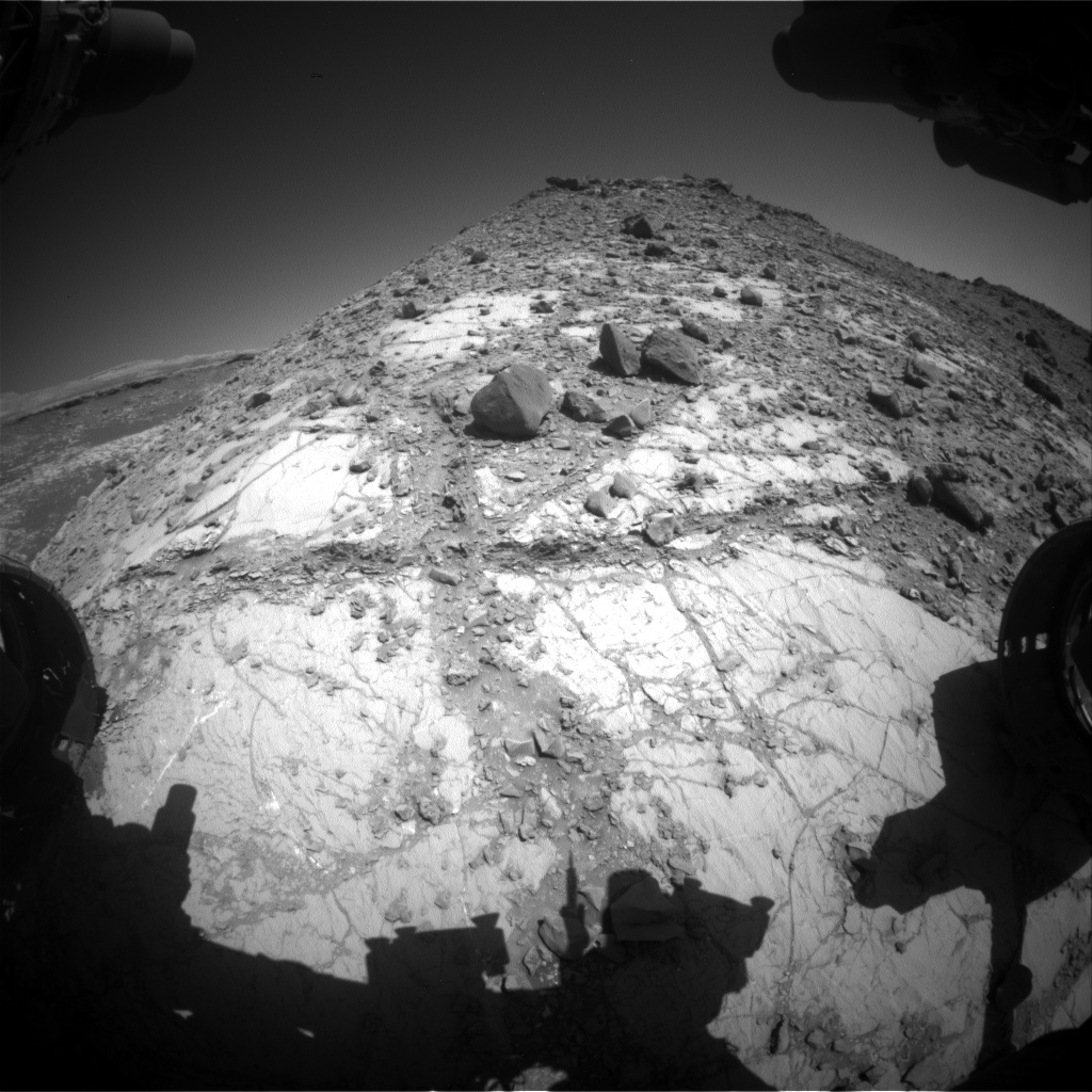 Nasa's Mars rover Curiosity acquired this image using its Front Hazard Avoidance Camera (Front Hazcam) on Sol 2639, at drive 1150, site number 78