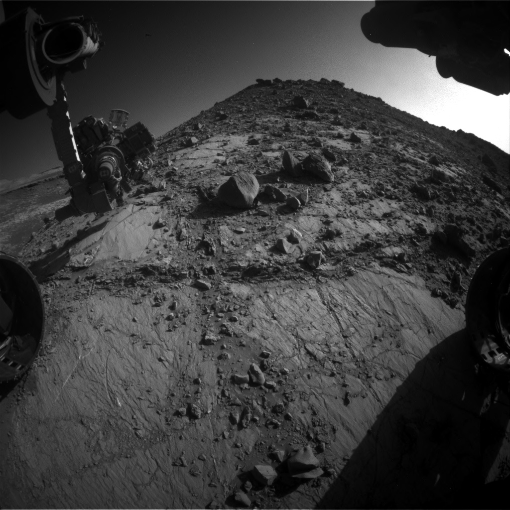 Nasa's Mars rover Curiosity acquired this image using its Front Hazard Avoidance Camera (Front Hazcam) on Sol 2640, at drive 1160, site number 78