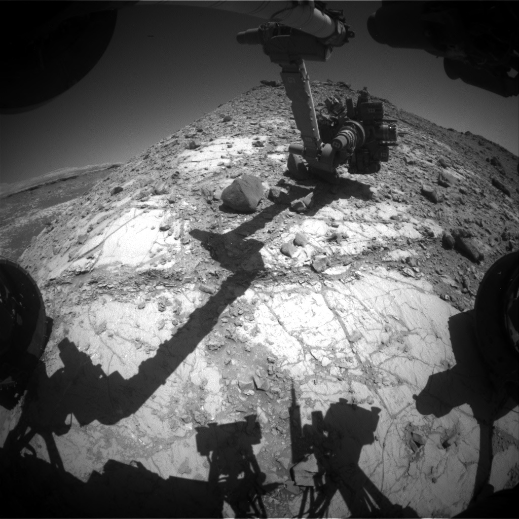 Nasa's Mars rover Curiosity acquired this image using its Front Hazard Avoidance Camera (Front Hazcam) on Sol 2642, at drive 1160, site number 78