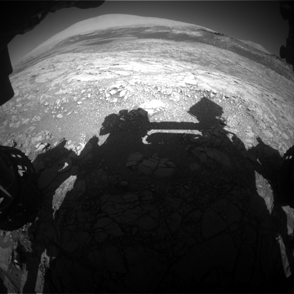 Nasa's Mars rover Curiosity acquired this image using its Front Hazard Avoidance Camera (Front Hazcam) on Sol 2643, at drive 1442, site number 78
