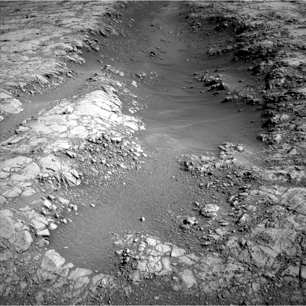 Sols 2645-2646: A Strange Trough on Western Butte