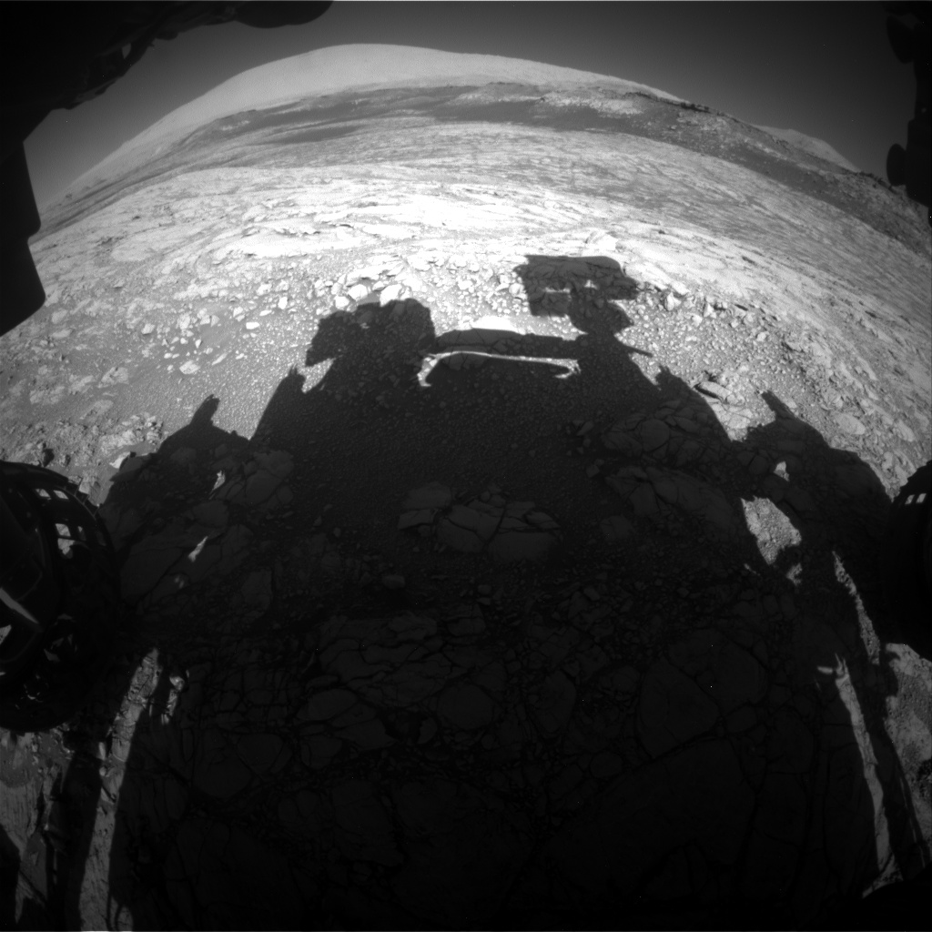 Nasa's Mars rover Curiosity acquired this image using its Front Hazard Avoidance Camera (Front Hazcam) on Sol 2644, at drive 1442, site number 78