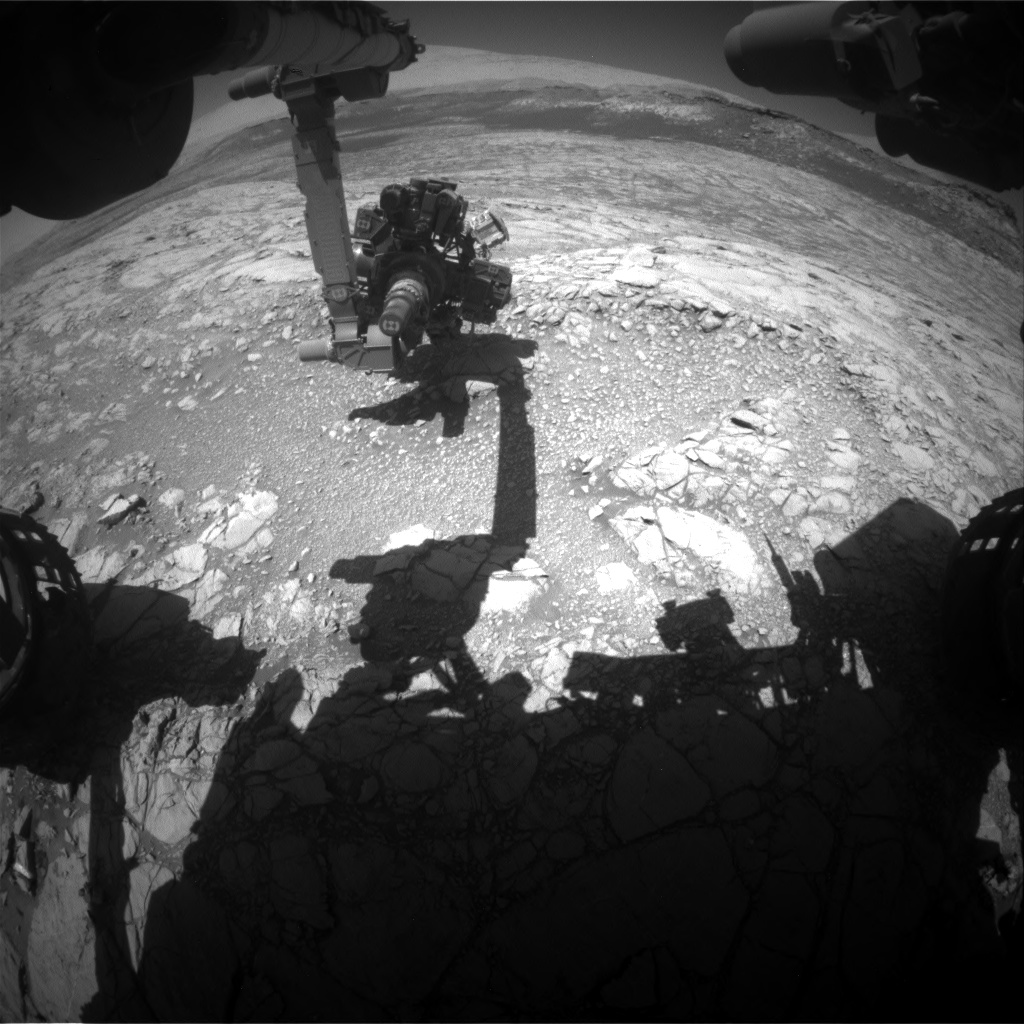 Nasa's Mars rover Curiosity acquired this image using its Front Hazard Avoidance Camera (Front Hazcam) on Sol 2645, at drive 1442, site number 78
