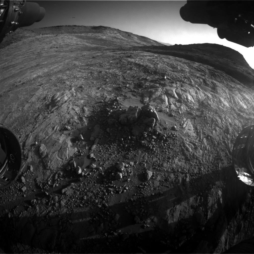 Nasa's Mars rover Curiosity acquired this image using its Front Hazard Avoidance Camera (Front Hazcam) on Sol 2645, at drive 1652, site number 78
