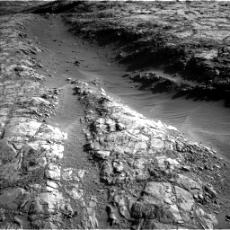 Nasa's Mars rover Curiosity acquired this image using its Left Navigation Camera on Sol 2645, at drive 1466, site number 78