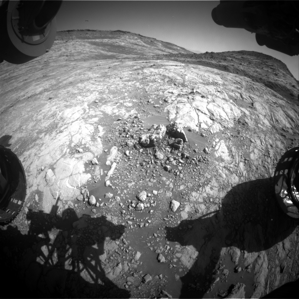 Nasa's Mars rover Curiosity acquired this image using its Front Hazard Avoidance Camera (Front Hazcam) on Sol 2646, at drive 1652, site number 78
