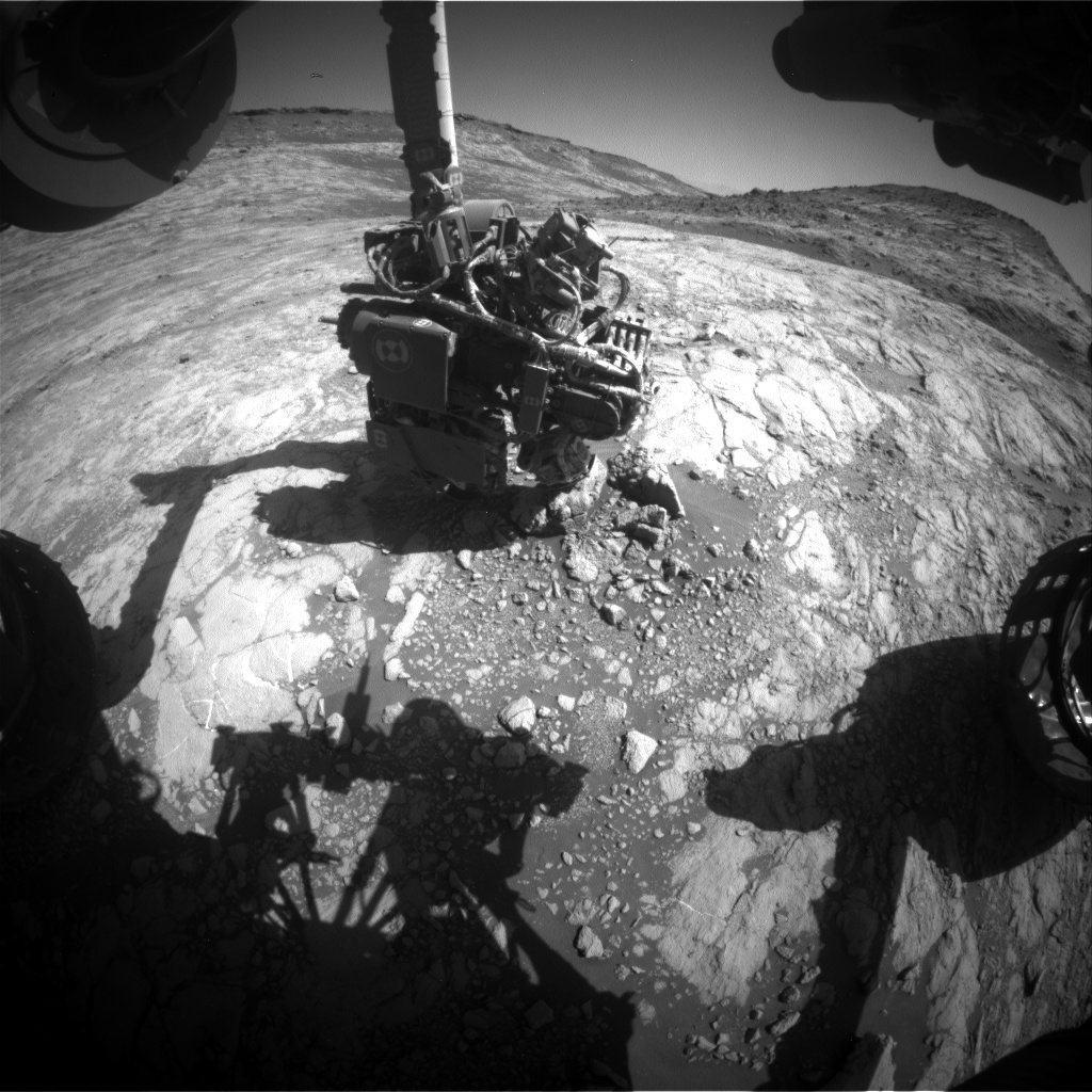 Nasa's Mars rover Curiosity acquired this image using its Front Hazard Avoidance Camera (Front Hazcam) on Sol 2647, at drive 1652, site number 78