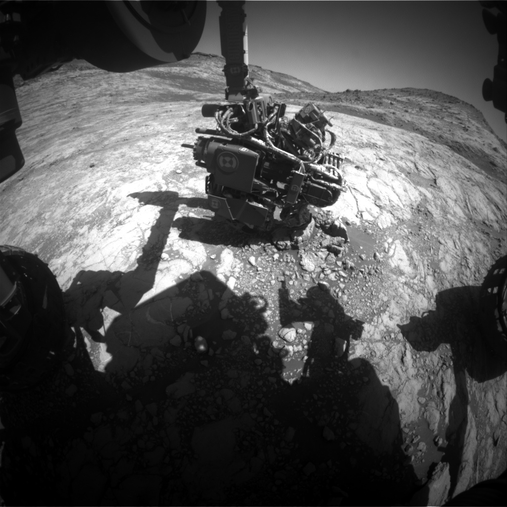 Nasa's Mars rover Curiosity acquired this image using its Front Hazard Avoidance Camera (Front Hazcam) on Sol 2648, at drive 1652, site number 78