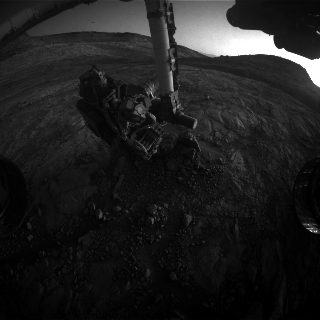 Nasa's Mars rover Curiosity acquired this image using its Front Hazard Avoidance Camera (Front Hazcam) on Sol 2653, at drive 1652, site number 78